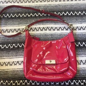 Coach Kristin Pink Patent Leather Hobo Handbag
